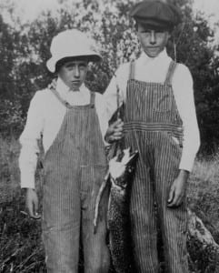 Clarence and Bill with their catch