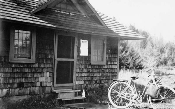 This cabin in Green Valley was Frances Boone Seaman's home in the summer of 1942.