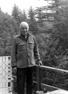 Jim Goodwin at his Keene Valley home in the late 1990s.