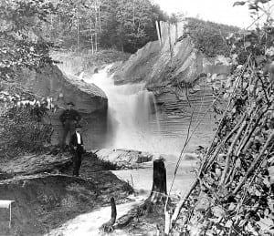 A break in the Forestport feeder canal, circa 1899.