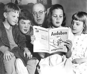 Zahniser with his four children in 1951.