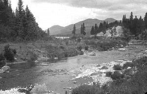 Bob or George took this photo of the Ausable River just outside Lake Placid during their Adirondack rambles.