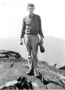 Bob Marshall, at age 20, on Wright Peak.