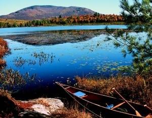 Oseetah Lake lies along the Saranac River.