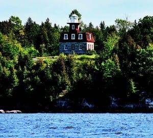 The lighthouse on Valcour Island