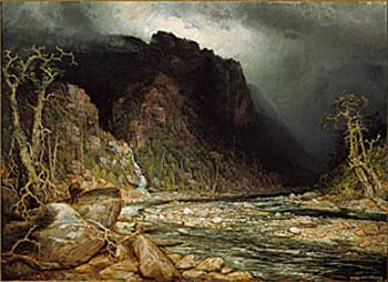 A Coming Storm in the Adirondacks. Painting by Homer Watson.