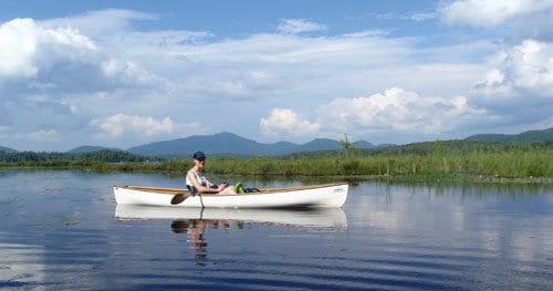 Canoeing on Oseetah Lake.