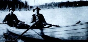 Bill and Floyd Hasbeck on Cranberry Lake, 1893.
