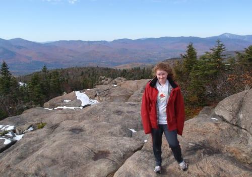 Martha on the summit of Hurricane.