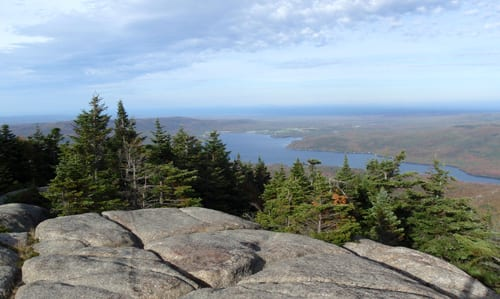 The view of Chazy Lake from the top of Lyon Mountain. Photo by Phil Brown.