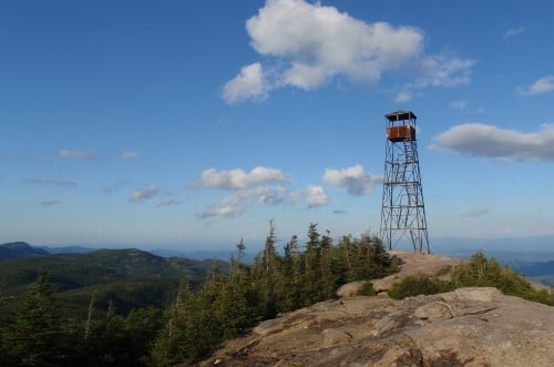 Hurricane Mountain fire tower. Photo by Phil Brown.