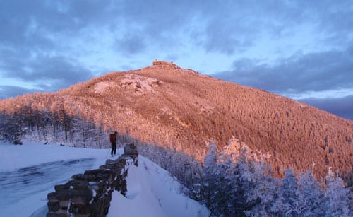 Whiteface's summit from the Lake Placid Turn. Photo by Phil Brown.