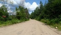 The main road in the Moose River Plains. Photo by Phil Brown.