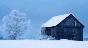An old barn near Paul Smiths.