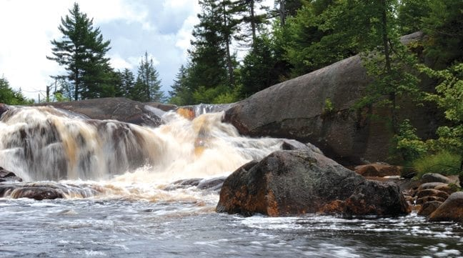 High Falls on the Oswegatchie was but one of the high points of the author's hike.