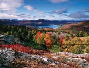 The rule of thirds: split the frame in three, horizontally and vertically, and place key elements of the image where the lines intersect.