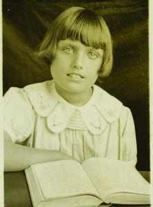 Gloria Rist in a 1933 school portrait.