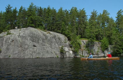 BluffIsland on Lower Saranac Lake. Photo by Susan Bibeau.