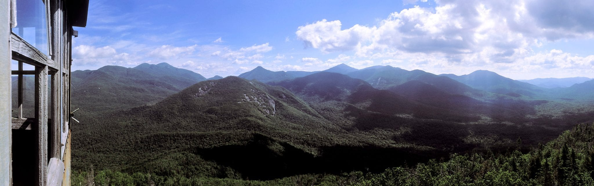 View of the High Peaks from Mount Adams. Copyright photo by Carl Heilman II.