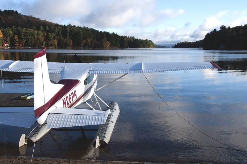 Floatplane on Long Lake. Photo by Carl Heilman II.