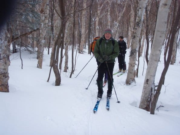 Skiers on the route of the Camel's Hump Challenge.