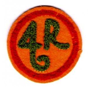 The patch designed by Grace Hudowalski.