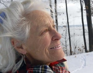 Anne LaBastille often lived in a log cabin on Twitchell Lake without plumbing or electricity. Associated Press.