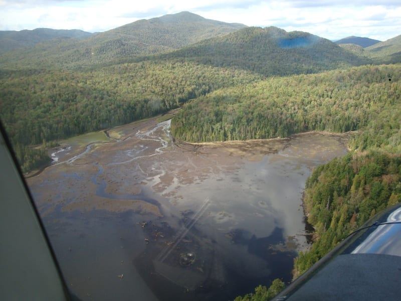 A view of Duck Hole looking north. Photo by NYSDEC.