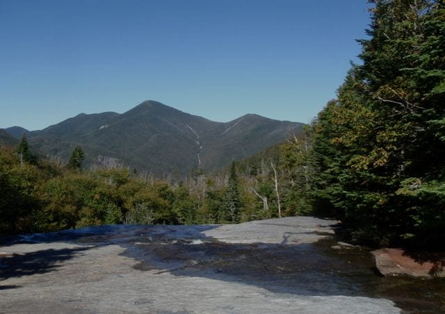 Algonquin Peak from Indian Falls. Photo by Phil Brown.