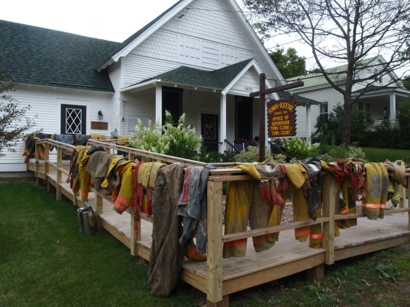 drying firefighter uniforms