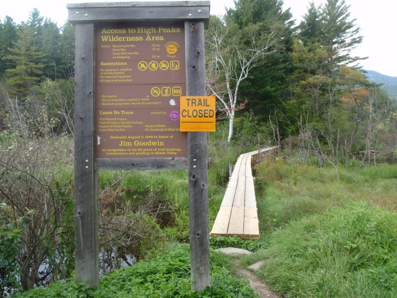 The Rooster Comb Trail in Keene Valley is among those that has been closed by the state. Photo by Phil Brown.