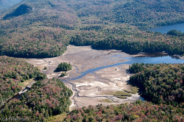Most of Duck Hole drained after Tropical Storm Irene. Photo by Carl Heilman II.