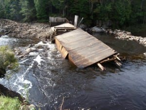 The Duck Hole dam after the breach. Photo by Phil Brown.