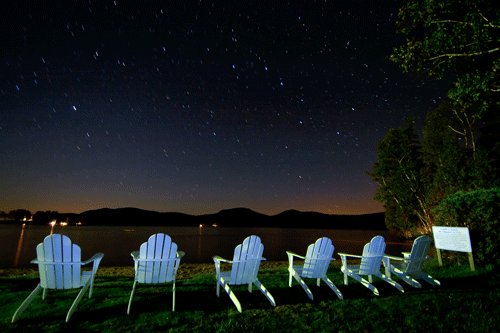 Adirondack chairs. Photo by Mark Bowie.