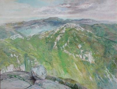 Anne Diggory painted this scene from Mount Marcy in 2001.