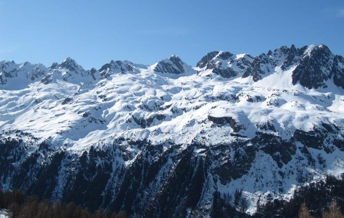 Le Massif de Aiguilles Rouges in Chamonix. Photo by Josh Wilson.