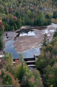 Marcy Dam pond after Irene.