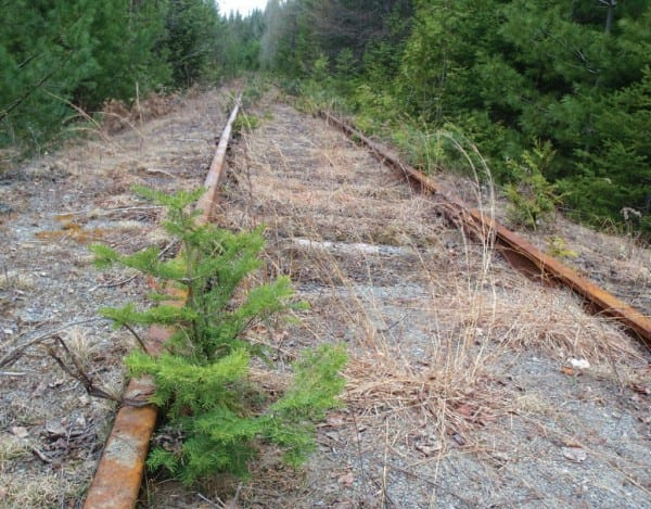 The rail line to Tahawus has not been used since 1989.