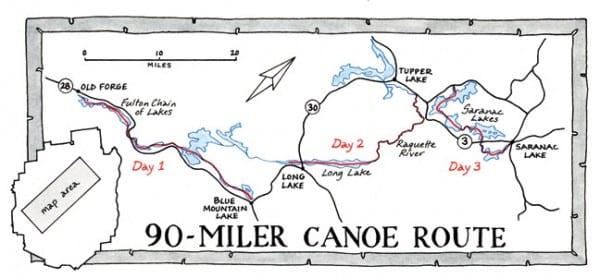 90 miler map