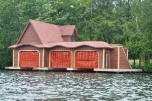The larger of the two Grimditch boathouses. Photo by George Earl.