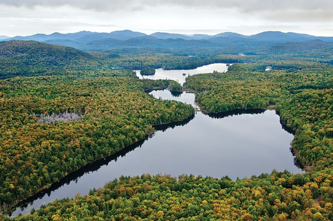 Essex Chain of Lakes in the Adirondacks. Photo by Carl Heilman II.