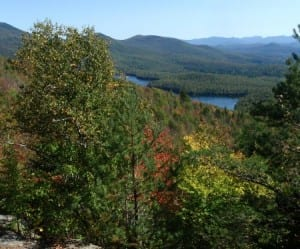 View from the summit of Baker Mountain in Saranac Lake