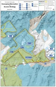DEC proposes to split the Boreas Ponds Tract between Wild Forest and motor-free Wilderness. Visitors would be able to drive most of the way to Boreas Ponds. Courtesy of NYSDEC