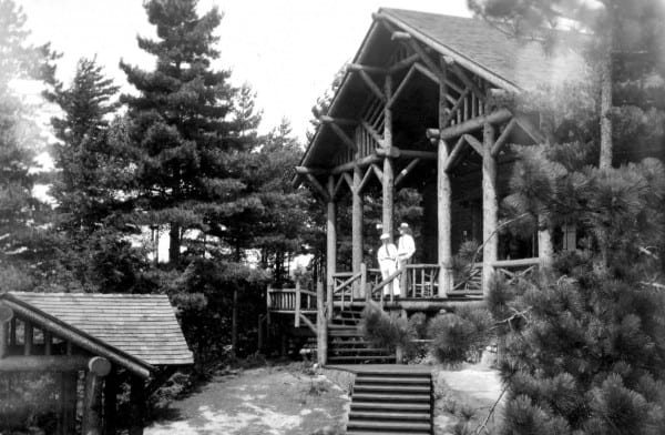 "Camp Woodwil on Upper Saranac Lake, where Lewis Spence spent four memorable summers with Grandfather—""an authentically fake Kentucky Colonel."""