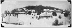 Trudeau Sanatorium, shown here in 1930, had grown to 58 buildings on 85 acres by 1951.