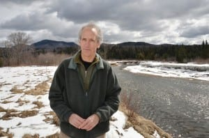 Larry Master on the bank of the West Branch of the Ausable River. Photo by Pat Hendrick