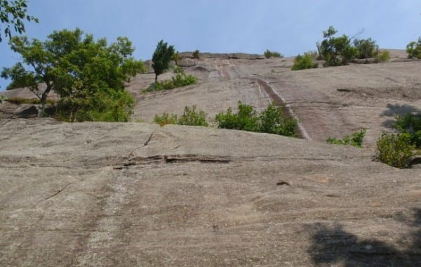 Potter Mountain cliff in a photo taken last September. Photo by Phil Brown.