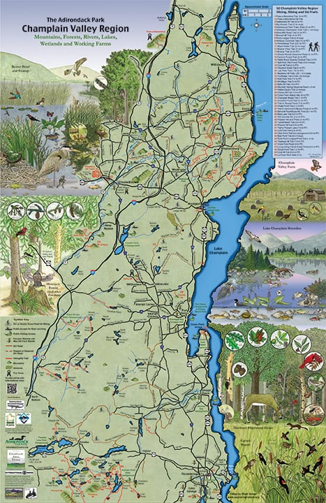 champlain map