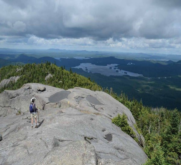 Ampersand Mountain offers a grand view of the Saranac Lakes. Photo by Susan Bibeau