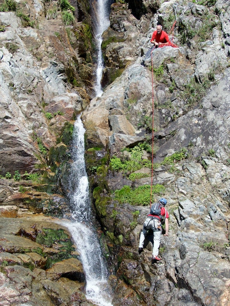 Climbing Roaring Brook Falls on Giant Mountain ...